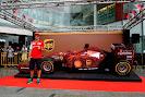 Fernando Alonso doing sponsor work