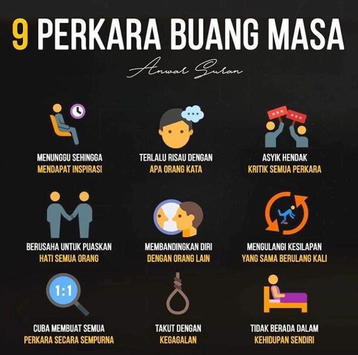9 PERKARA BUANG MASA