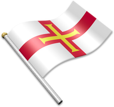 The Channel-Island flag on a flagpole clipart image