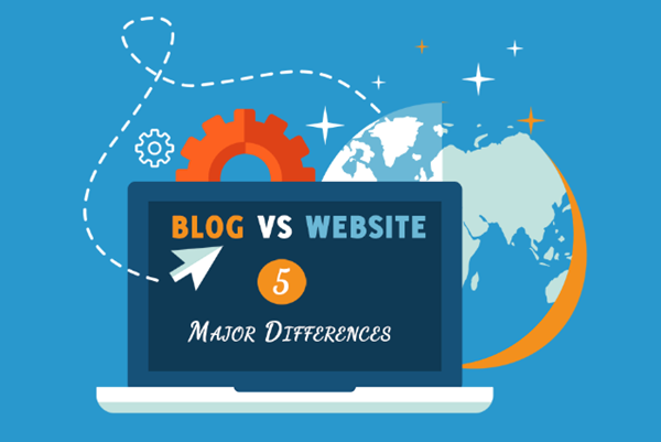 blog vs. website major differences and comparison