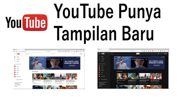 Tampilan baru website YouTube