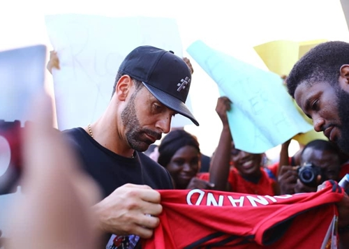 Rio Ferdinand Arrives Lagos, To Search For Young Talents (photos) -