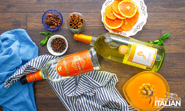 White wine sangria ingredients