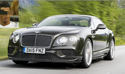 Bentley Continental GT Speed cristaino Ronaldo