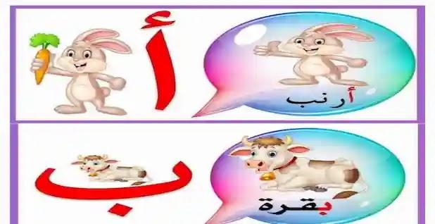 بطاقات الحروف العربية ملونة جميلة جدا - الحروف الابجدية للاطفال بالصور pdf