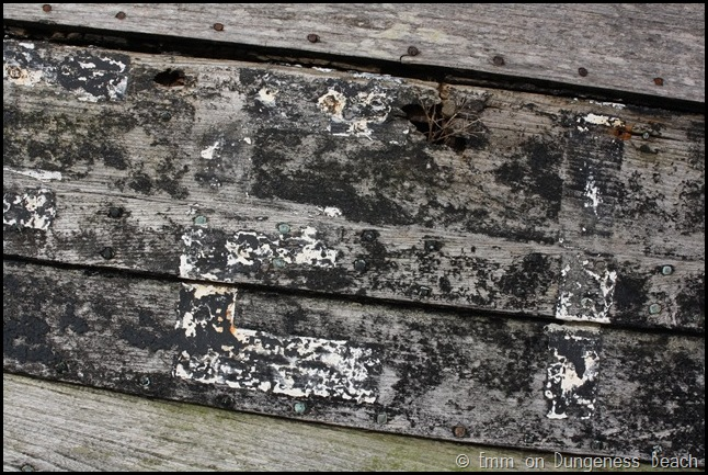 Ship detail on Dungeness beach
