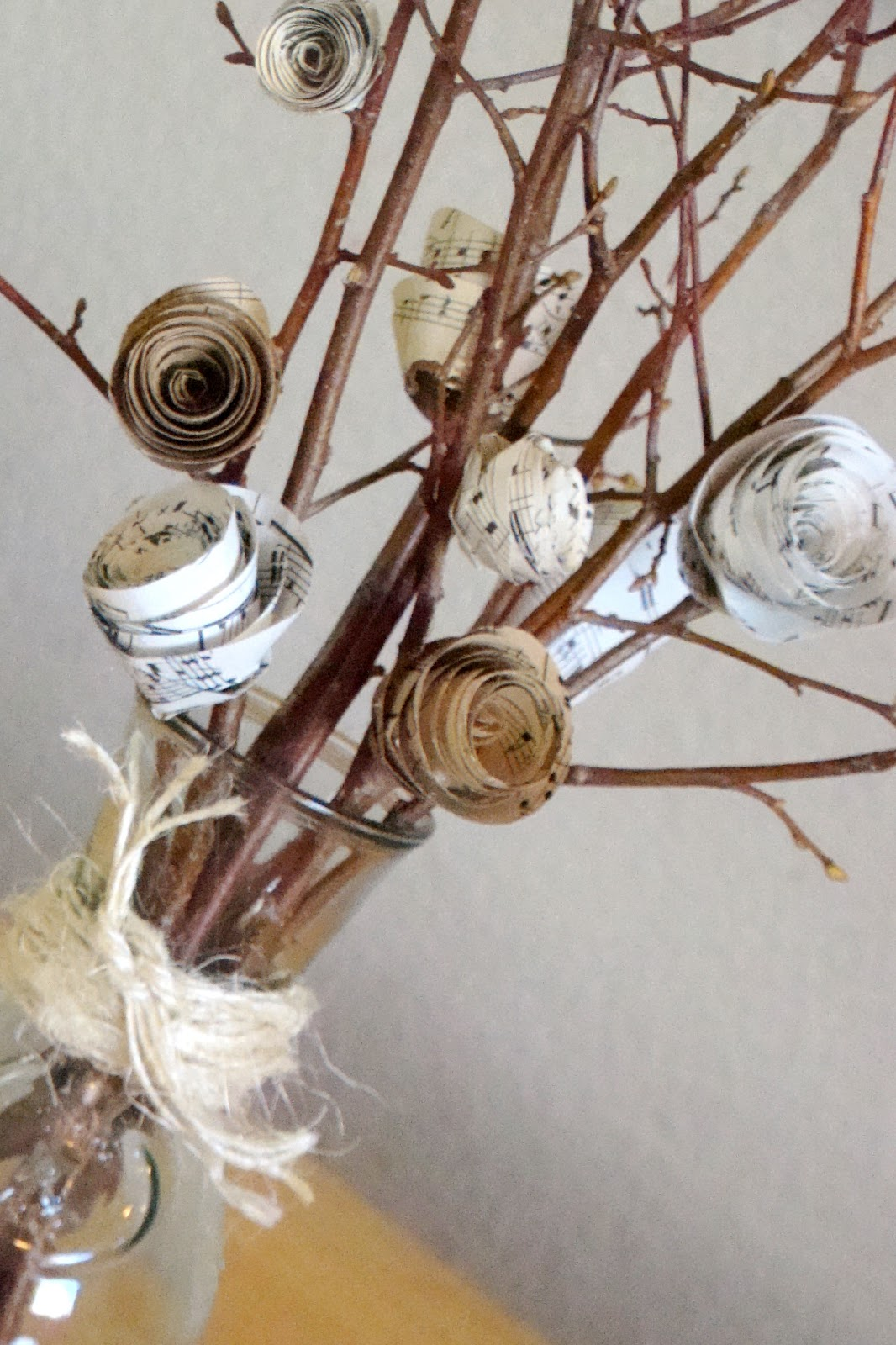 Make Paper Flowers With Sheet Music Guest Post From Kim From Too