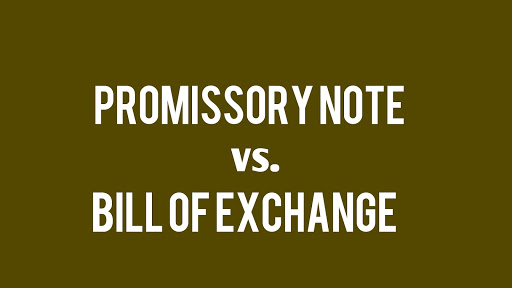 bill of exchange notes