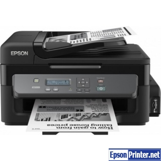 How to reset Epson M200 printer