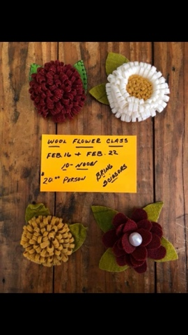 Punkin Patch Craft Designs Adventures In Art Wool Flower Class