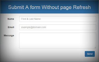 submit form without a page refresh in php jquery best php tutorials