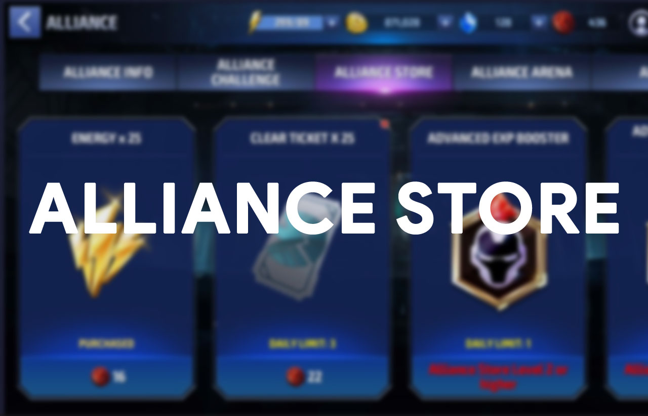 Alliance store marvel future fight
