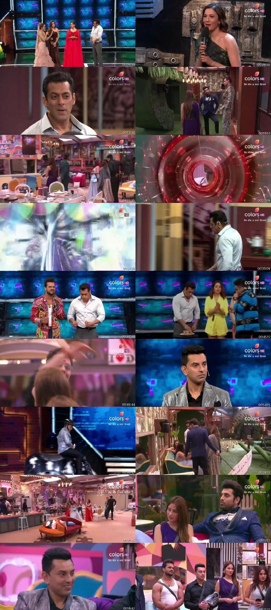 Screenshots Of Hindi Show Bigg Boss 13 3rd November 2019 Episode 34 300MB 480P HD