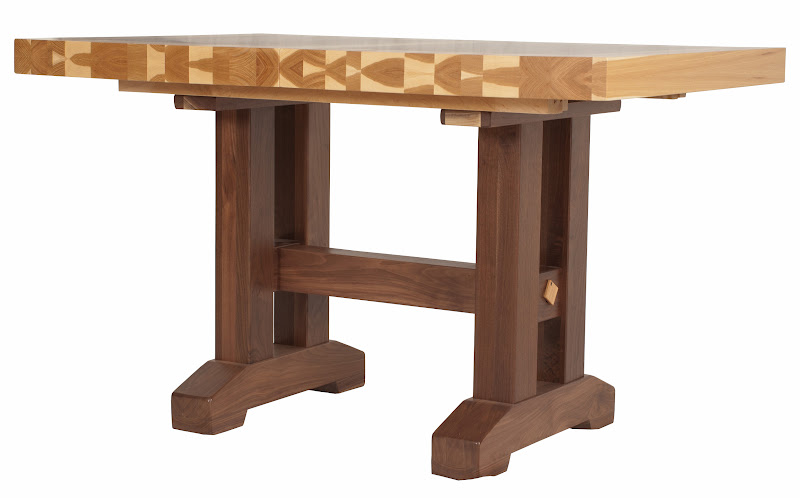 Natural Edge Dining Table With Steel Trestle Custom: Handcrafted Timber Edge Tables From Erik Organic
