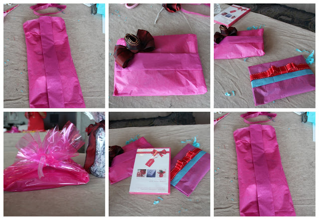 Wrapping a flat present