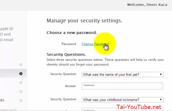 Hình 5 - Hướng dẫn cách đổi mật khẩu iCloud trên Apple ID