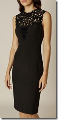 Karen Millen cut out yoke pencil dress 25% off
