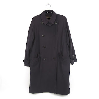 Louis Vuitton Navy Blue Extra-Long Peacoat