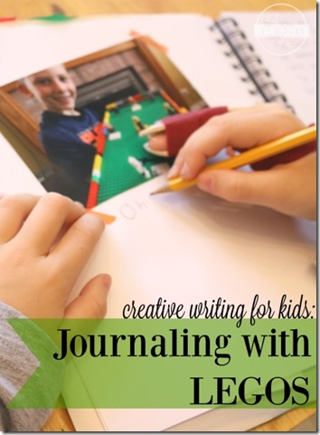 Creative writing for kids journaling with LEGO - what a fun way to make writing fun for kindergarten, 1st grade, 2nd grade, 3rd grade, 4th grade, and 5th grade kids.