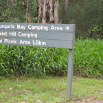 Turn off to Bungaree Bay camping area