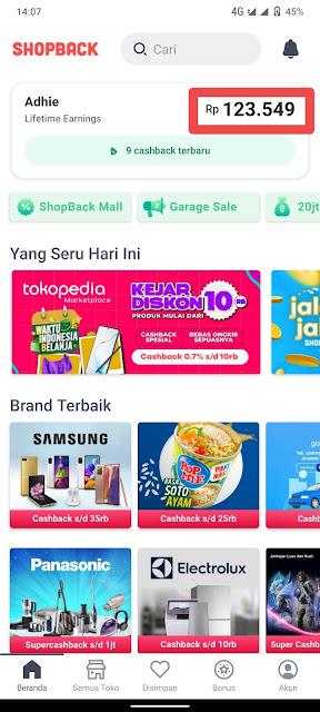Trik Belanja di Shopee, Tokopedia Dapat Cashback Ratusan Ribu Dengan Aplikasi Shopback