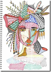 380 Zentangle Woman