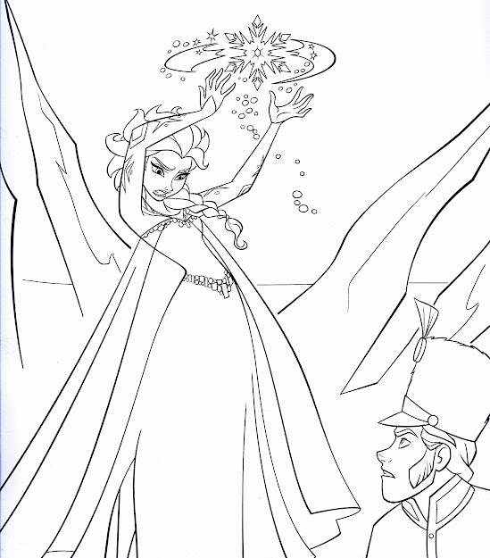 Disney Frozen Coloring Sheets  Walt Disney Coloring Pages  Queen Elsa   Prince Hans