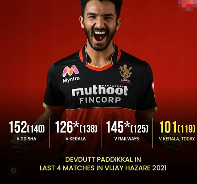Royal challengers Bangalore Time table of 14th Edition ipl and Rcb star batsman devdutt paddikal played outstanding performance in vijay Hazare Tropy, Read more