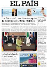 """Photo: Los líderes del euro lanzan un plan de estímulo de 130.000 millones, la RAE admite la acepción de matrimonio como """"unión de dos personas del mismo sexo"""" y muere a los 72 años el actor Juan Luis Galiardo, entre otros temas, en nuestra portada del sábado 23 de junio de 2012 http://srv00.epimg.net/pdf/elpais/1aPagina/2012/06/ep-20120623.pdf"""