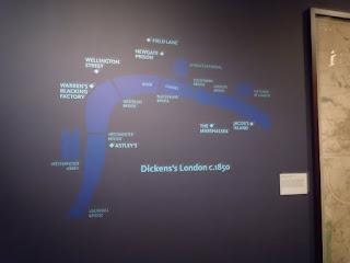 """Выставка """"Диккенс и Лондон"""" в Музее Лондона. Карта."""