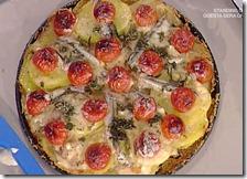 Torta di alici pastellate e patate