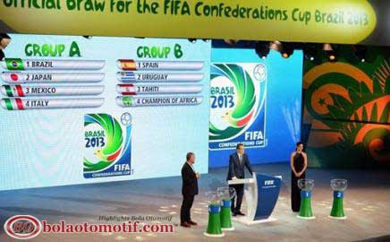 Jadwal Pertandingan Pembagian Grup Piala Konfederasi Brasil 2013  Piala Dunia 2014