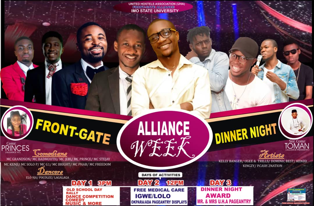 IMSU: Activities Lined-Up For Front Gate Alliance Week (No.3 Will Shock You)