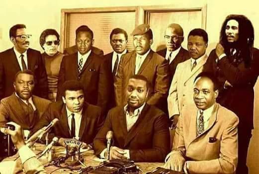 Sankara, Mandela, Malcolm X, Muhammad Ali, Marcus Garvey, Gaddafi, Nkruma, Ali, Steve Biko, Patrice Lumumba.