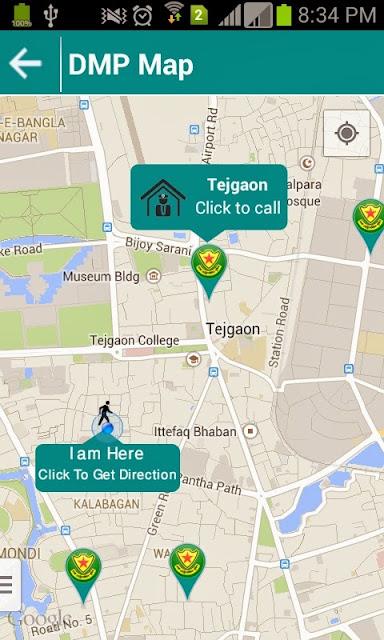 dhaka metropolitan police station map
