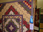 2007 Quilt Show - J) Pieced Bed Long Arm Quilted