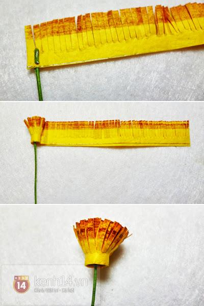 hoa+giay+4 Cách làm hoa trang trí đơn giản từ giấy