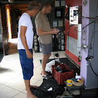 Preparing for deep dive at The Arch, Blue Hole with Jonas Samuelsson from Dahab Divers Technical