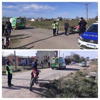 Choque de motos en Chacabuco
