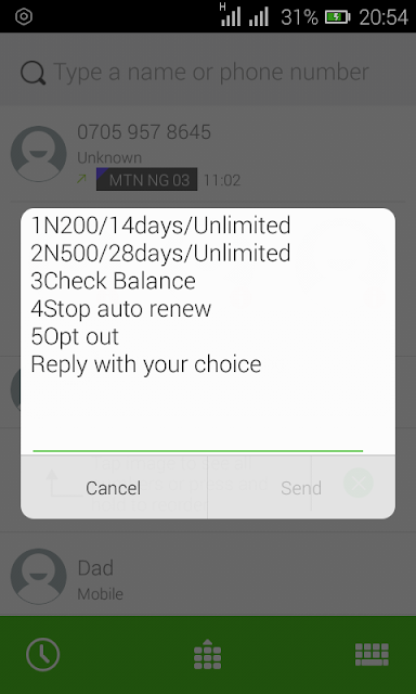 Airtel plan of N200 for 2GB and N500 for 5GB