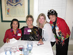 The dinner party and ornament exchange drew Maryann McDonald, Barbara Arquit, Debbi Schneider and Susie Bell.