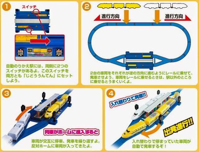 Bộ Nhà ga tránh tầu Auto Transfer Doctor Yellow Type923 Set chạy bằng pin