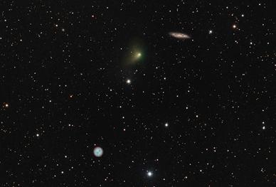 cometa PanSTARRS, M97 e M108