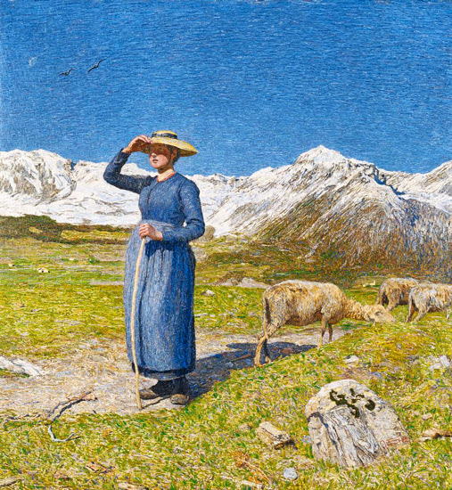 Giovanni Segantini - Midday in the Alps