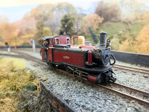 Photo: 016 Single Fairlie Taliesin poses for a photo on Nigel Smith's Tanybwlch layout .