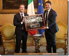 Mark Zuckerberg e Matteo Renzi
