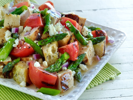 Chicken, Bell Pepper, Anchovy, and Tomato Salad