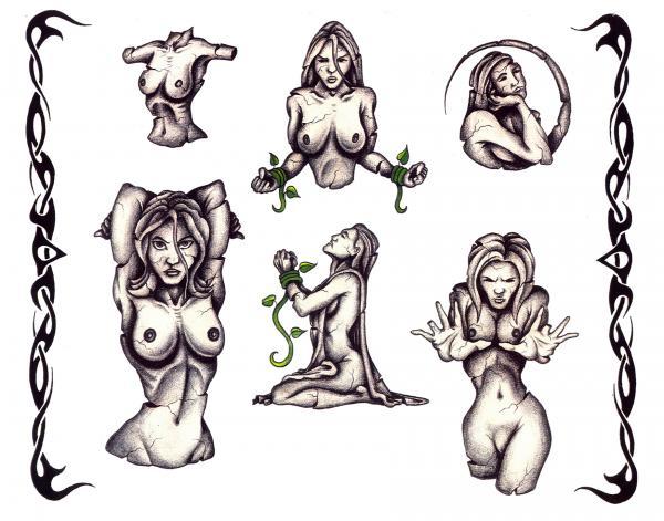 Design Of Mysterious Tattoo 7, Fantasy Tattoo Designs