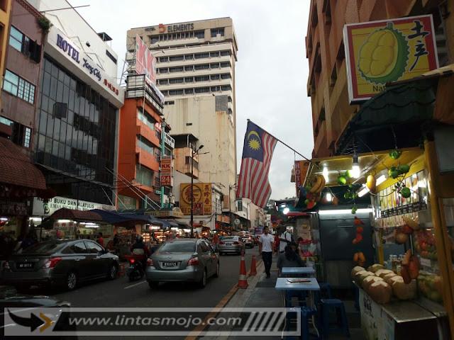 Kawasan kuliner jalan Sutan Kuala Lumpur Malaysia