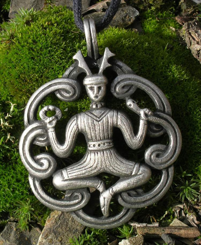 Cernunnos The Horned Celtic God Amulet, Celtic And Druids